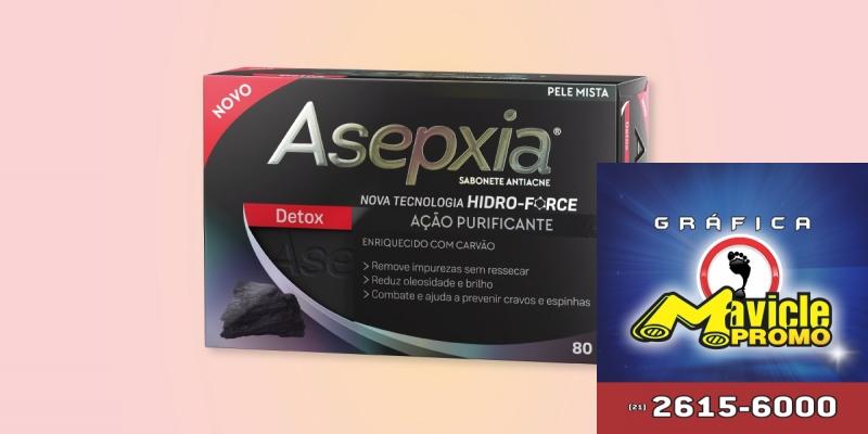 Asepxia lança sabão Desintoxicação com Ação Purificante   Guia da Farmácia   Imã de geladeira e Gráfica Mavicle Promo
