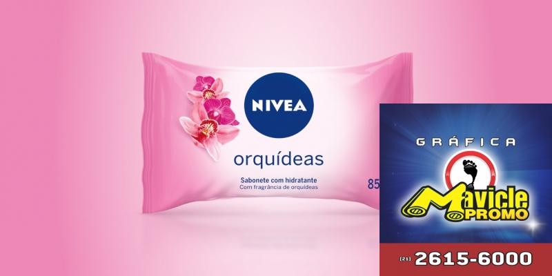 NIVEA apresenta sabonete em barra fragrância das orquídeas   Guia da Farmácia   Imã de geladeira e Gráfica Mavicle Promo