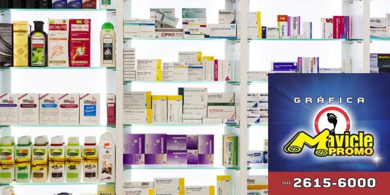 O design é um fator determinante na hora das compras   Guia da Farmácia   Imã de geladeira e Gráfica Mavicle Promo